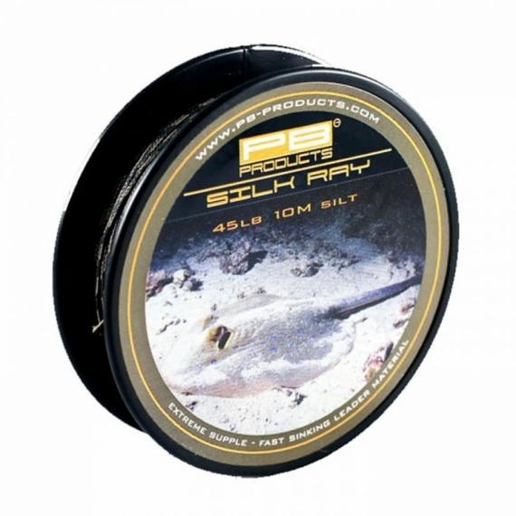 """PB Products Silk Ray 45lb """"Silt"""" - előtétzsinór 10 méter """"iszap"""" színben"""