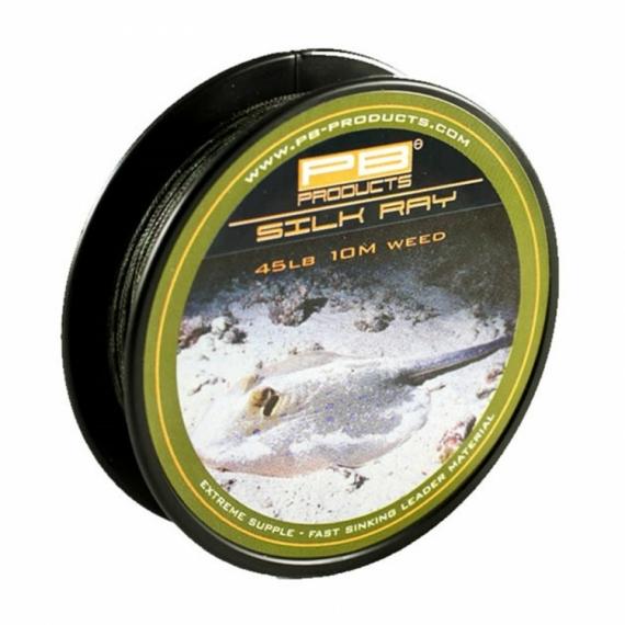 """PB Products Silk Ray 45lb """"Weed"""" - előtétzsinór 10 méter """"növényzet"""" színben"""