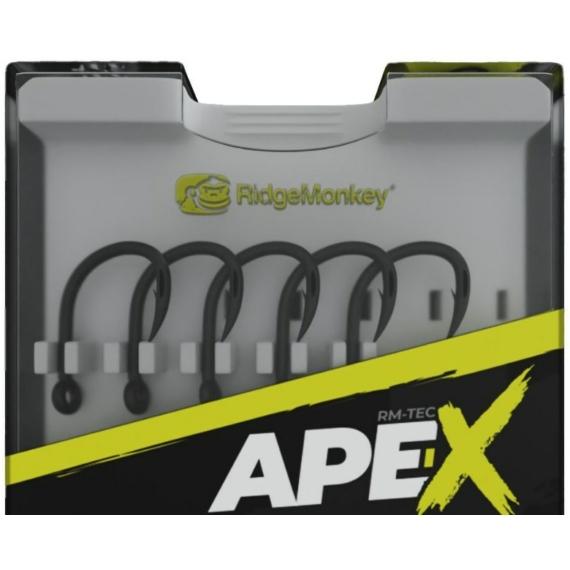RidgeMonkey Ape-X Straight Point Barbed Size 4/6/8 - szakállas horgok 4,6-os és 8-as méretben