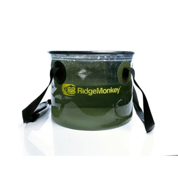 RidgeMonkey Perspective Collapsible Bucket - átlátszó vödör 15 literes