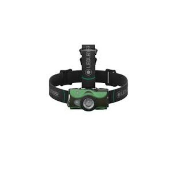 Led Lenser MH8 Outdoor Green - tölthető fejlámpa 600LM zöld színben