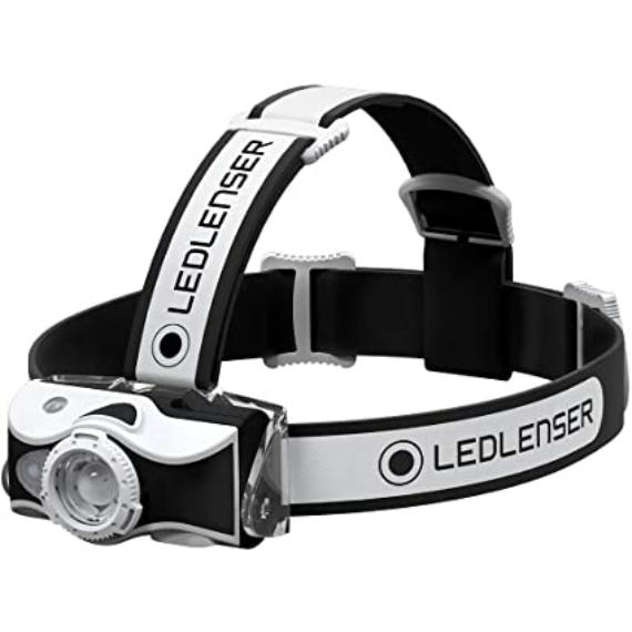 Led Lenser MH7 Outdoor Black and White - tölthető fejlámpa 600LM fekete és fehér