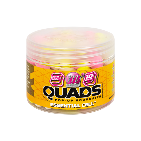 """Mainline Baits Pop Up Quad Hookbait Essential Cell 10mm - négyszögletes pop-up horogcsali """"Essential Cell"""" ízesítés 10mm"""