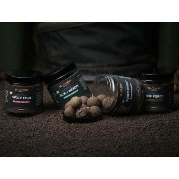 S-Carp Product Balanced Hardened Hookbaits - 24mm-es balanszírozott csalizó bojlik 7 féle ízesítéssel