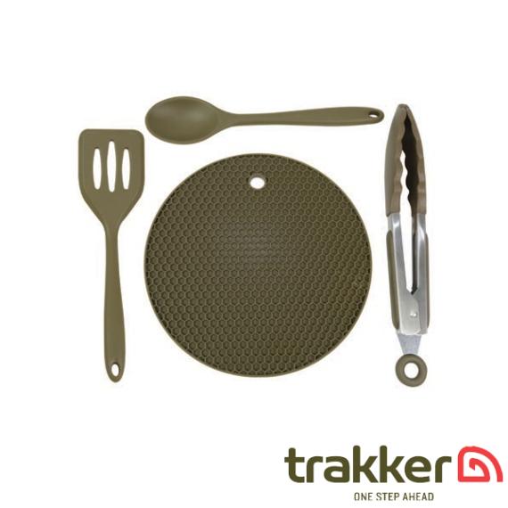 Trakker Armolife 4 Pieces Silicone Utensil Set - 4 részes szilikon kemping főző szett