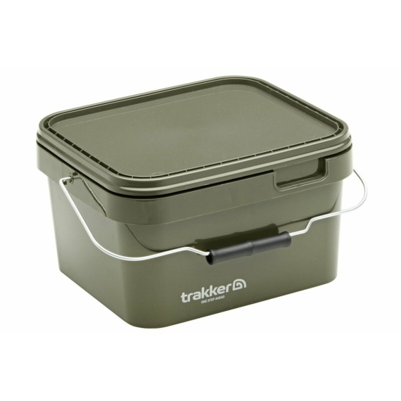 Trakker 5 Litre Olive Square Containers - 5 liters szögletes műanyag vödör