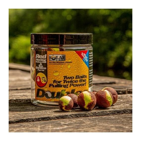 Solar Bait Doubles Wafters 16-20mm Red Herring-Top Banana - kiegyensúlyozott kétízű horogcsali