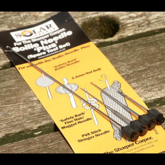 Solar Tackle Boilie Needle Spare Set of 4 Tools - bojli tű tartalék szett