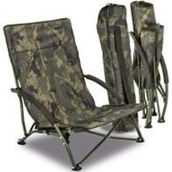 Solar Tackle Undercover Camo Easy Chair Low - alacsony könnyű kamo szék