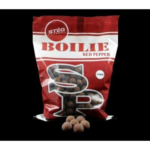 Stég Product Boilie 16mm Red Pepper - 16mm-es bojli piros paprika ízesítésben 800g