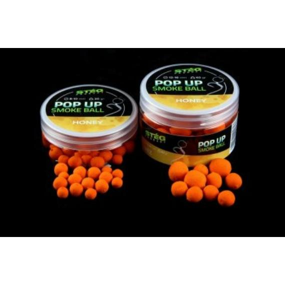 Stég Product Pop Up 8-10mm 20g Smoke Ball Honey - méz ízesítésű pop-up bojli