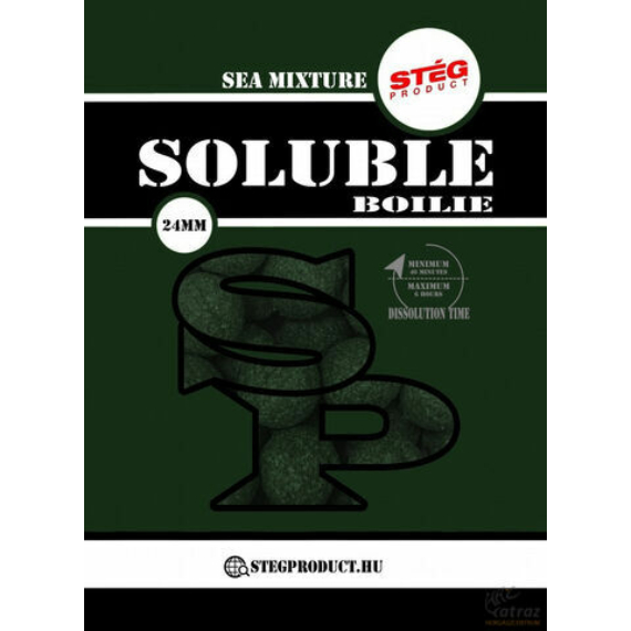 Stég Product Soluble Boilie 24mm Sea Mixture - halas keverék gyosan oldódó bojli 1kg