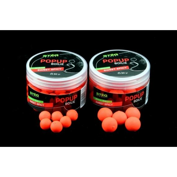 Stég Product Pop Up Bojli 13mm 50g Sweet Spicy - édes fűszer ízesítésű pop-up bojli