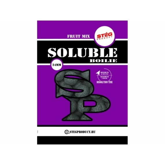 Stég Product Soluble Boilie 24mm Fruit Mix - gyümölcsös keverék ízesítésű gyosan oldódó bojli 1kg