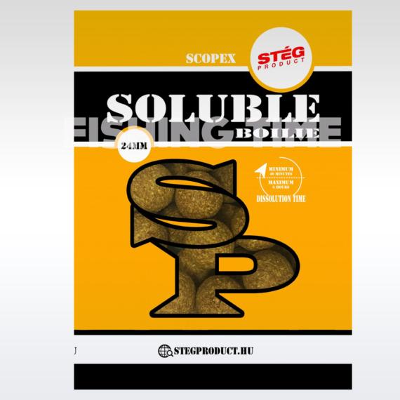 Stég Product Soluble Boilie 24mm Scopex - scopex ízesítésű gyosan oldódó bojli 1kg