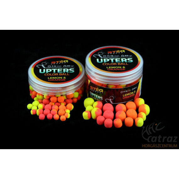 Stég Product Upters Color Ball 11-15mm Lemon&Orange -  balanszírozott csali 60g citrusos ízeben