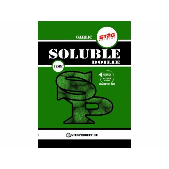 Stég Product Soluble Boilie 24mm Garlic - fokhagymás ízesítésű gyosan oldódó bojli 1kg
