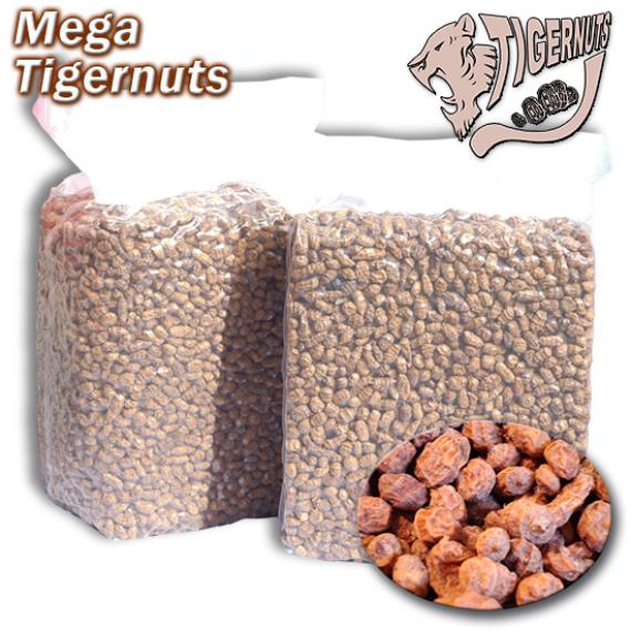 Mega Tigernuts - tigrismogyoró zsugorfóliás barna 3kg vagy 12,5kg-os zsákokban (2.712 Ft/kg) 15-30mm-es méretben